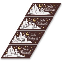 48 pcs Chocolate-Plaques  Merry Christmas