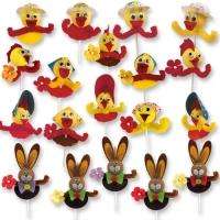100 pcs Easter novelties on stick