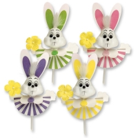 100 pcs Jolly Easter bunnies on stick