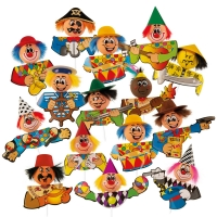 60 pcs Happy chenille figures, large
