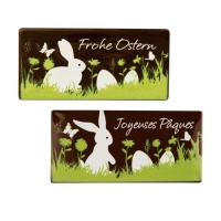 36 pcs Plaques  Frohe Ostern , dark chocolate, assorted