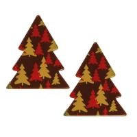 100 pcs Fir trees, dark chocolate, assorted