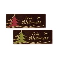 96 pcs Dark chocolate plaque  Frohe Weihnacht , assorted