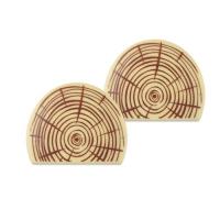24 pcs Log cuts, white chocolate
