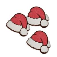160 pcs Santa hat, dark chocolate