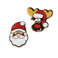 104 pcs Santa and elk, dark chocolate, assorted