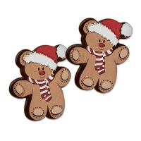 96 pcs Santa bear, dark chocolate