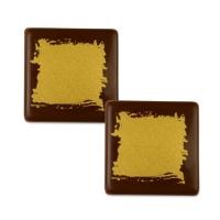105 pcs Gold squares, dark chocolate