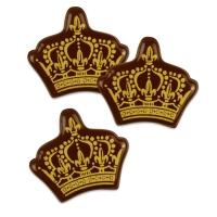 105 pcs Gold crown, dark chocolate