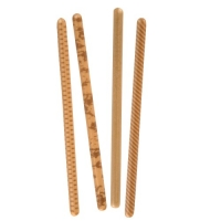66 pcs Rods, white chocolate with caramel, assorted