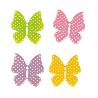128 pcs Butterflies, white chocolate, assorted