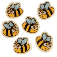 180 pcs Small bees, white chocolate
