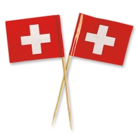 144 pcs Swiss flags, large
