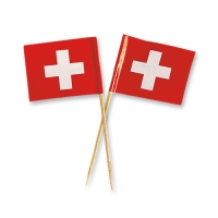 144 pcs Swiss flags, small