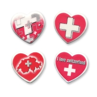 60 pcs Heart  Swiss cross , small