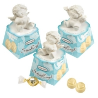 12 pcs Polyresin guardian angel on box, with white pralines