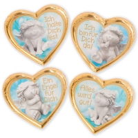 40 pcs Praline hearts  guardian angel , asstd.