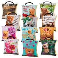 12 pcs Emotion box  Bear  with toffees, assorted