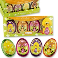 12 pcs Easter gift with chocolate eggs, assorted