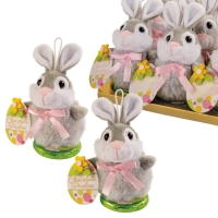12 pcs Plush bunny on praline thaler