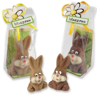 20 pcs Marzipan rabbit in cellophane bag, assorted