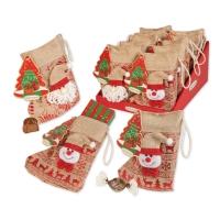 10 pcs Christmas stocking, asstd.