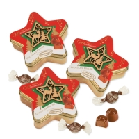 12 pcs Tin box, star  Christmas