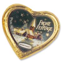 40 pcs Large chocolate Christmas heart