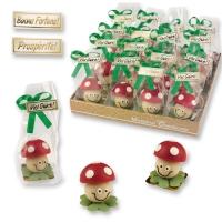 32 pcs Marzipan mushroom in plastic bag