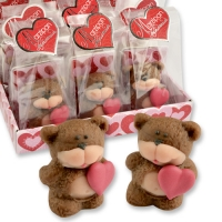 12 pcs Marzipan bear in cellophan bag and tray