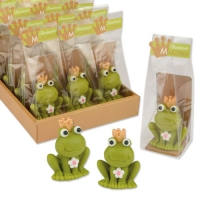 12 pcs Marzipan frog in cellophane bag and tray