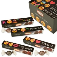 12 pcs Praline gift  Emoticons , assorted