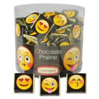 2 pcs Napolitans  Emoticons  (with nougat cream filling)