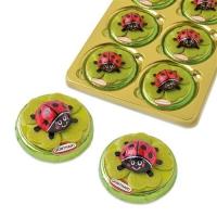 16 pcs Choco ladybird on praline thaler