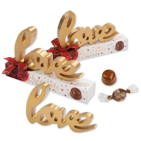 10 Pcs. Wooden ornament  love  on box