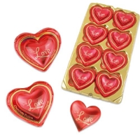 16 pcs Magnet heart  Love  on praline heart