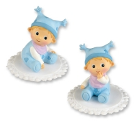 2 pcs Assorted plastic baby, blue
