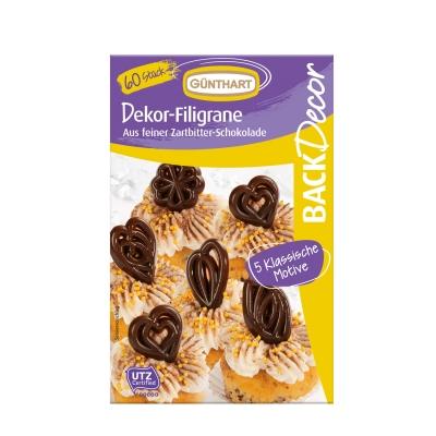12 pcs Chocolate filigrees