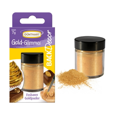 6 Food colouring with gold glimmer