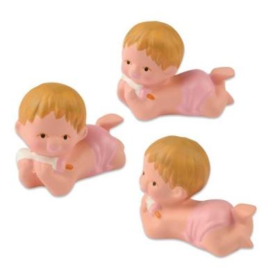 6 pcs Single baby, pink