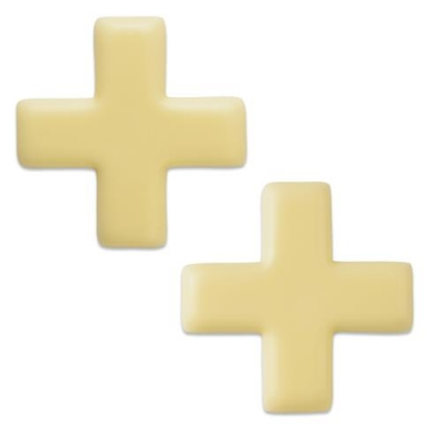 96 pcs Swiss cross, white chocolate